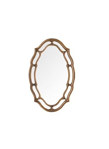 Warm Design Oval Duvar Aynası Altın